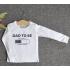 TDE7309 - Áo thun trẻ em cổ tròn tay dài in chữ Dad to be (Hồng phấn)