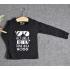 TDE6908 - Áo thun trẻ em cổ tròn tay dài in chữ Think Like a Boss (Hồng sen)