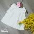 AG0210219 - Áo gái kiểu tơ sọc Cổ bèo kết hạt bẹt