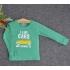 TDE7109 - Áo thun trẻ em cổ tròn tay dài in chữ I Like Car (Hồng phấn)