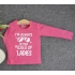TDE7009 - Áo thun trẻ em cổ tròn tay dài in chữ I'm Always Getting Picked Up By Ladies (Hồng phấn)