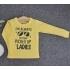 TDE7003 - Áo thun trẻ em cổ tròn tay dài in chữ I'm Always Getting Picked Up By Ladies (Xám)