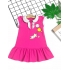 DG250701 - Đầm thun trụ bo sọc in cô gái.