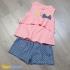 BG050701 - Set áo kiểu+ quần short bé gái