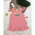 DG050401 - Đầm vải sọc linen